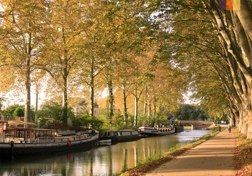 View of Canal du Midi
