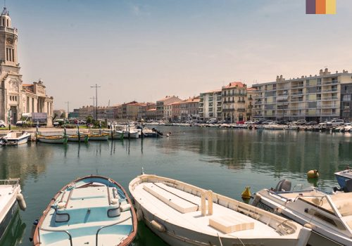 The port of Sete in France
