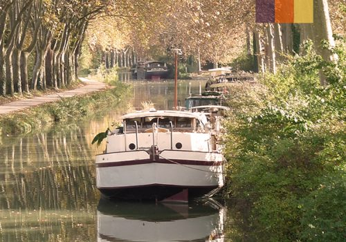 Boat at Canal du Midi in France