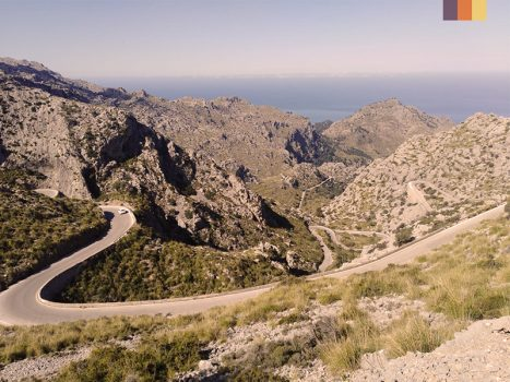 View of Sa Calobra in Mallorca