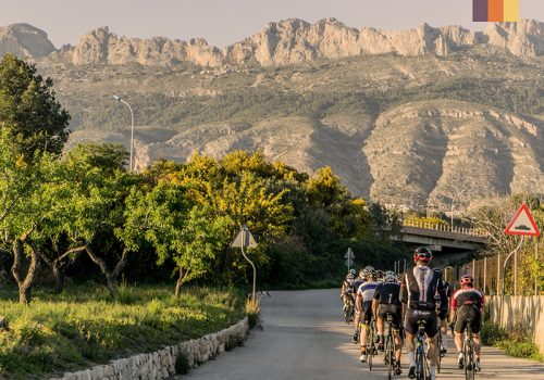 Cyclists ride in Costa Blanca