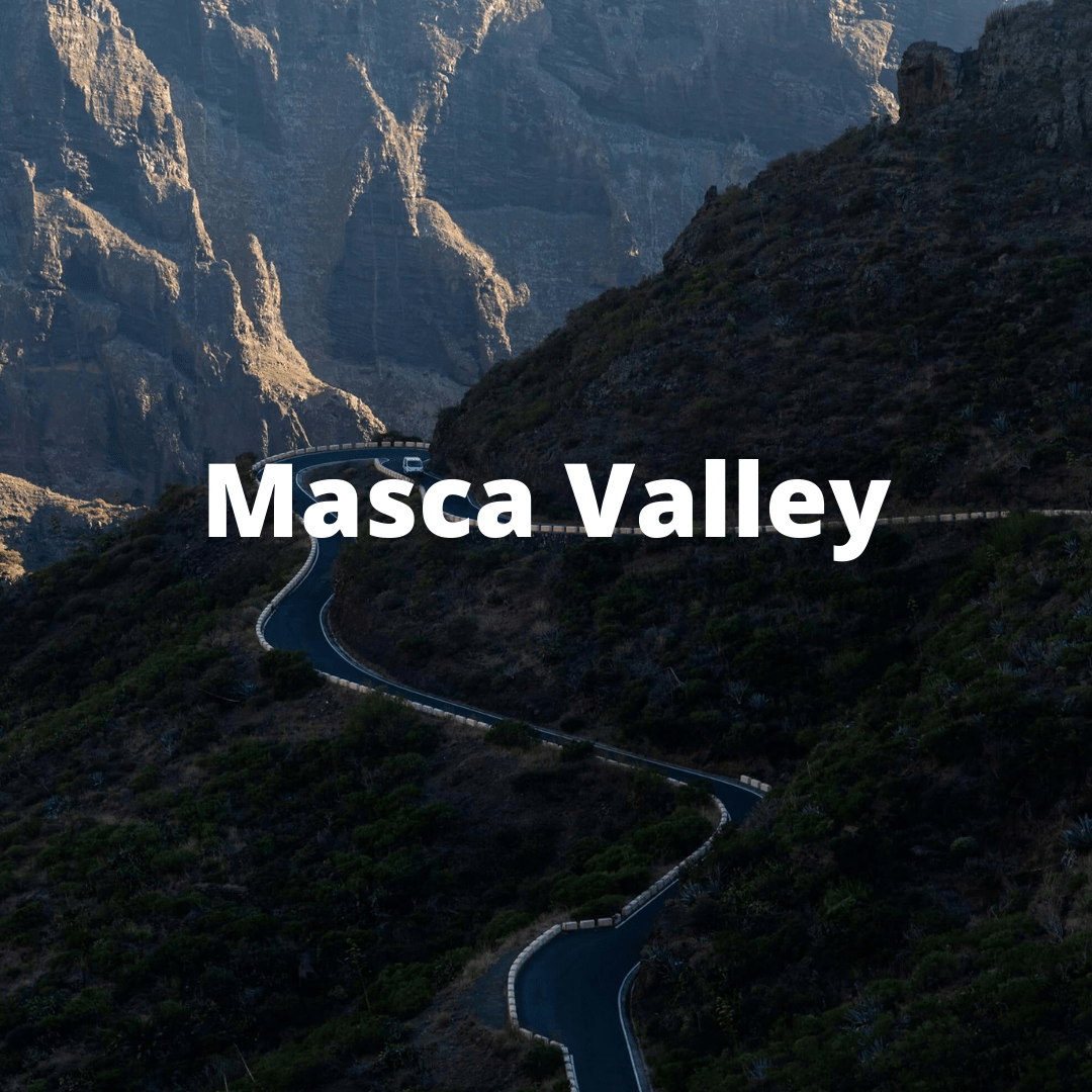View of the Road Down to Masca