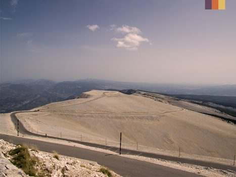 The view from the top of Mont Ventoux in France