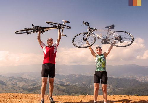 Thailand cyclists and bike