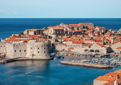 View over buildings and sea in Dubrovnik