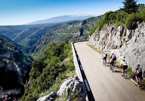 View of the road at Gorge de la Nesque