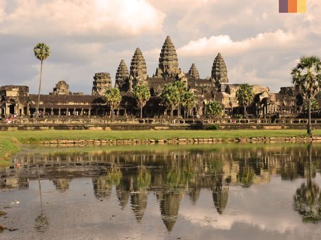 angkor wat temple, the largest religious monument in the world in cambodia