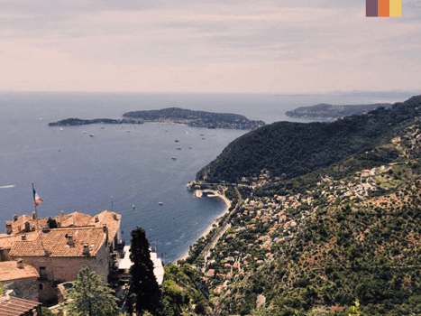 the panoramic view of col d'eze near nice in the french riviera
