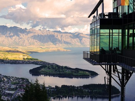view from a lookout in queenstown, new zealand