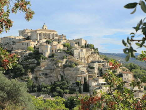 an aesthetic hilltop village in provence france