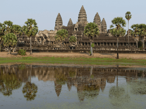 the UNESCO angkor wat in siem reap, cambodia