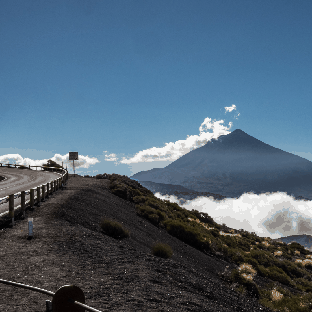 Road leading up to Mount Teide in Tenerife