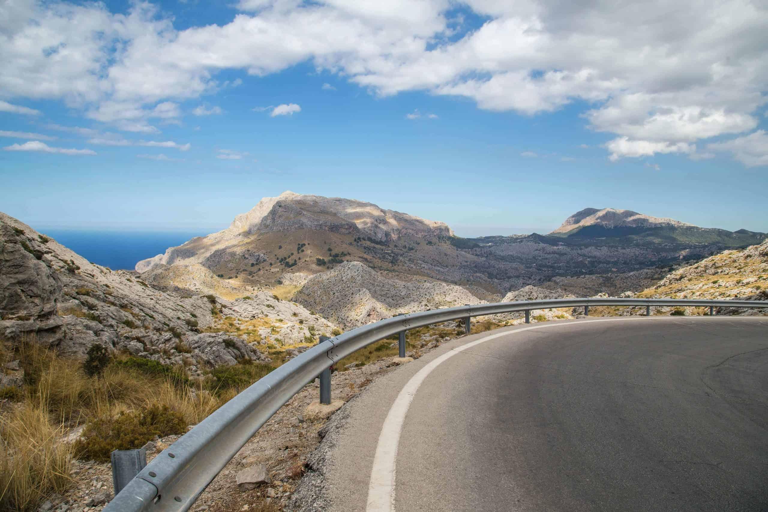View of the road at Sa Calobra in Mallorca