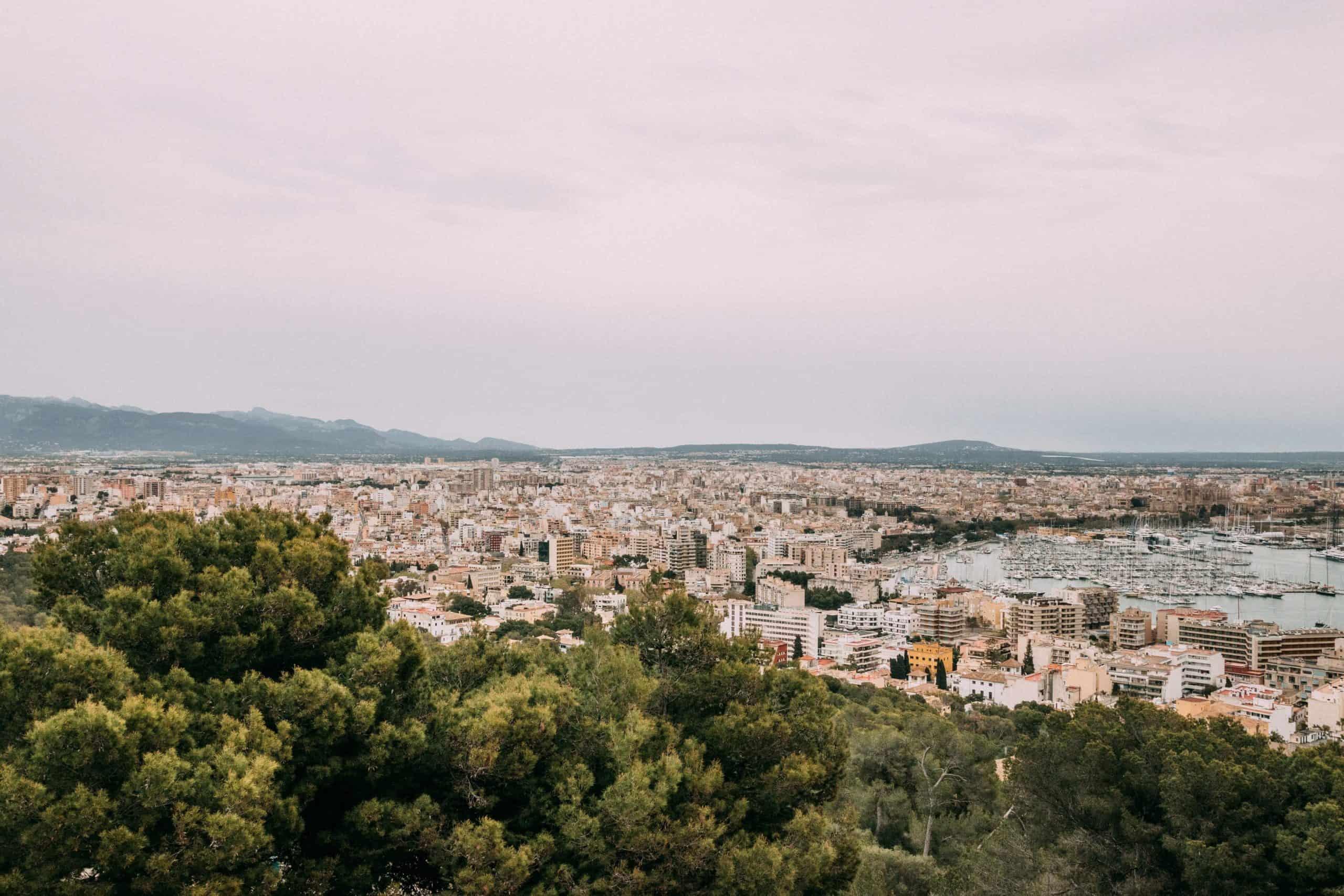 View from the Sobremunt climb in Mallorca
