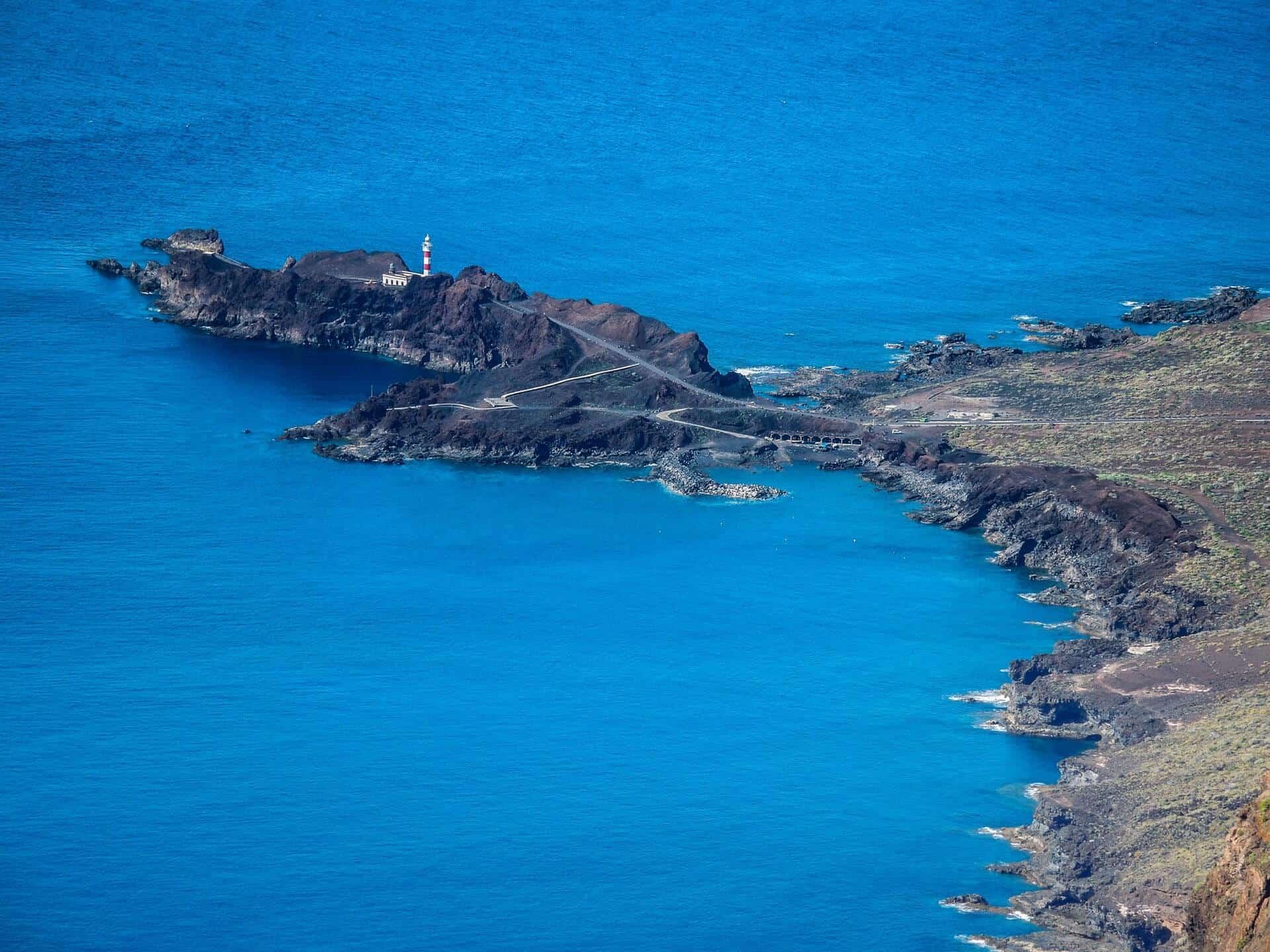 View of the Punta de Teno lighthouse in Tenerife