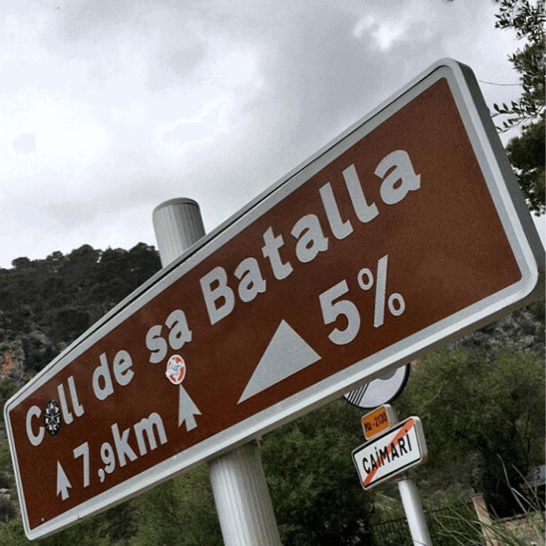The Coll de Sa Batalla climb