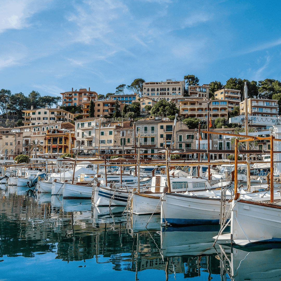 View of Port Soller from the water