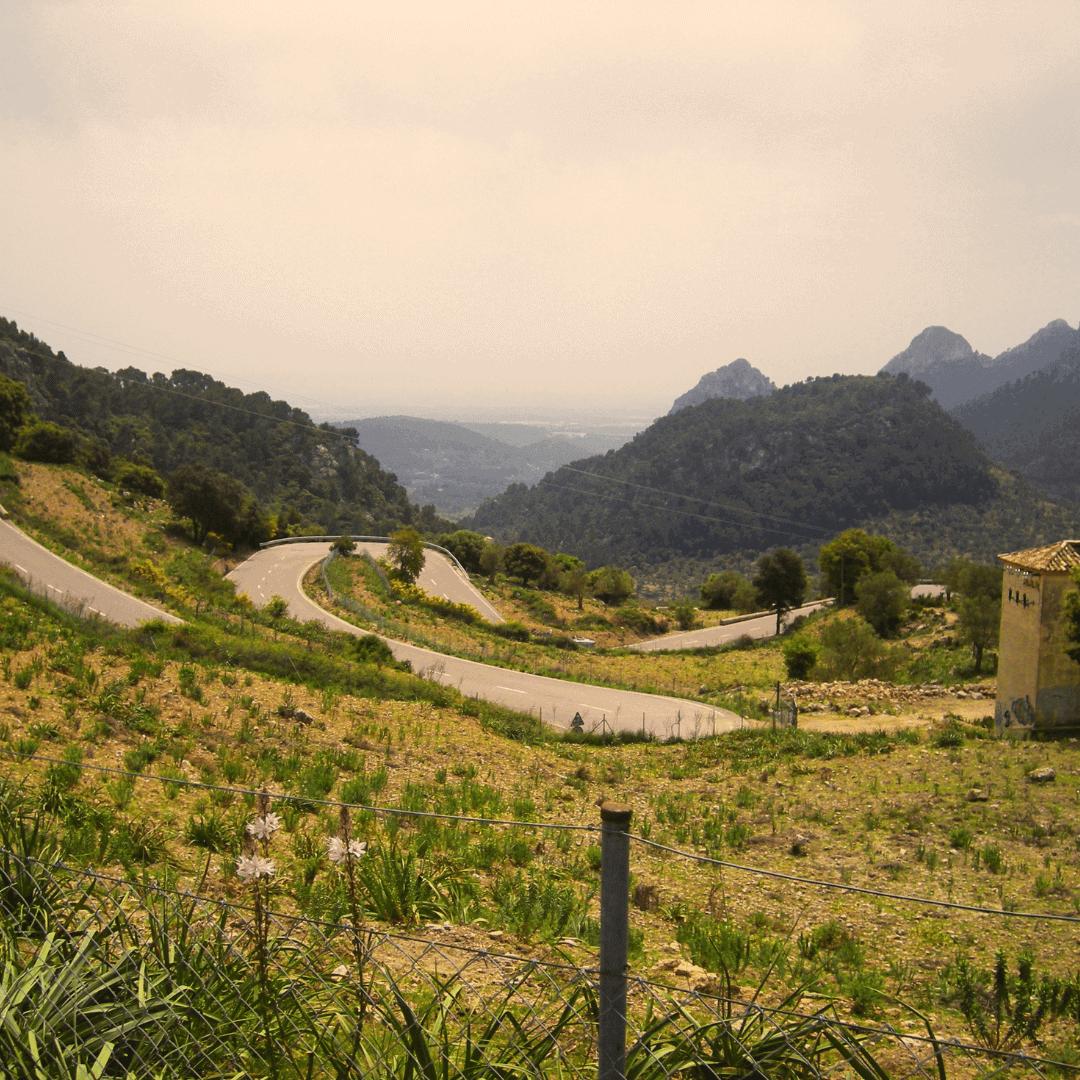 Cycling the Coll de Soller