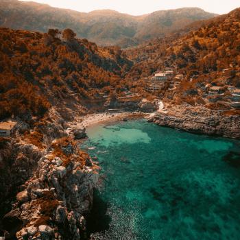 View of the Beach at Cala Deia
