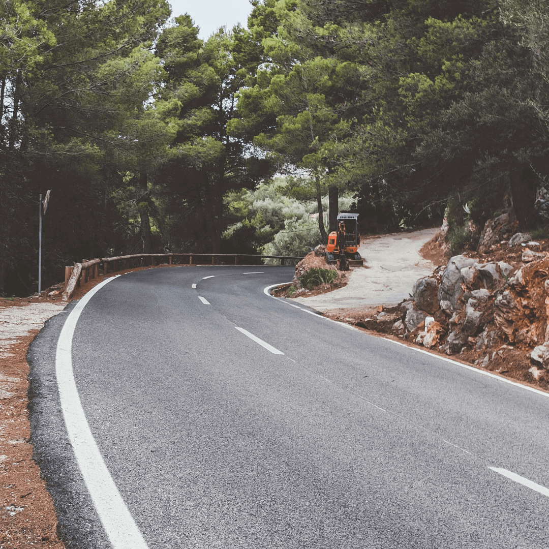 View of the road at Puig Major in Mallorca