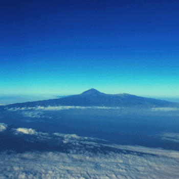 View of Mt Teide from the air