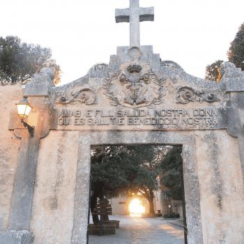 The entrance to the Santuari de Cura at the top of the Coll de Randa