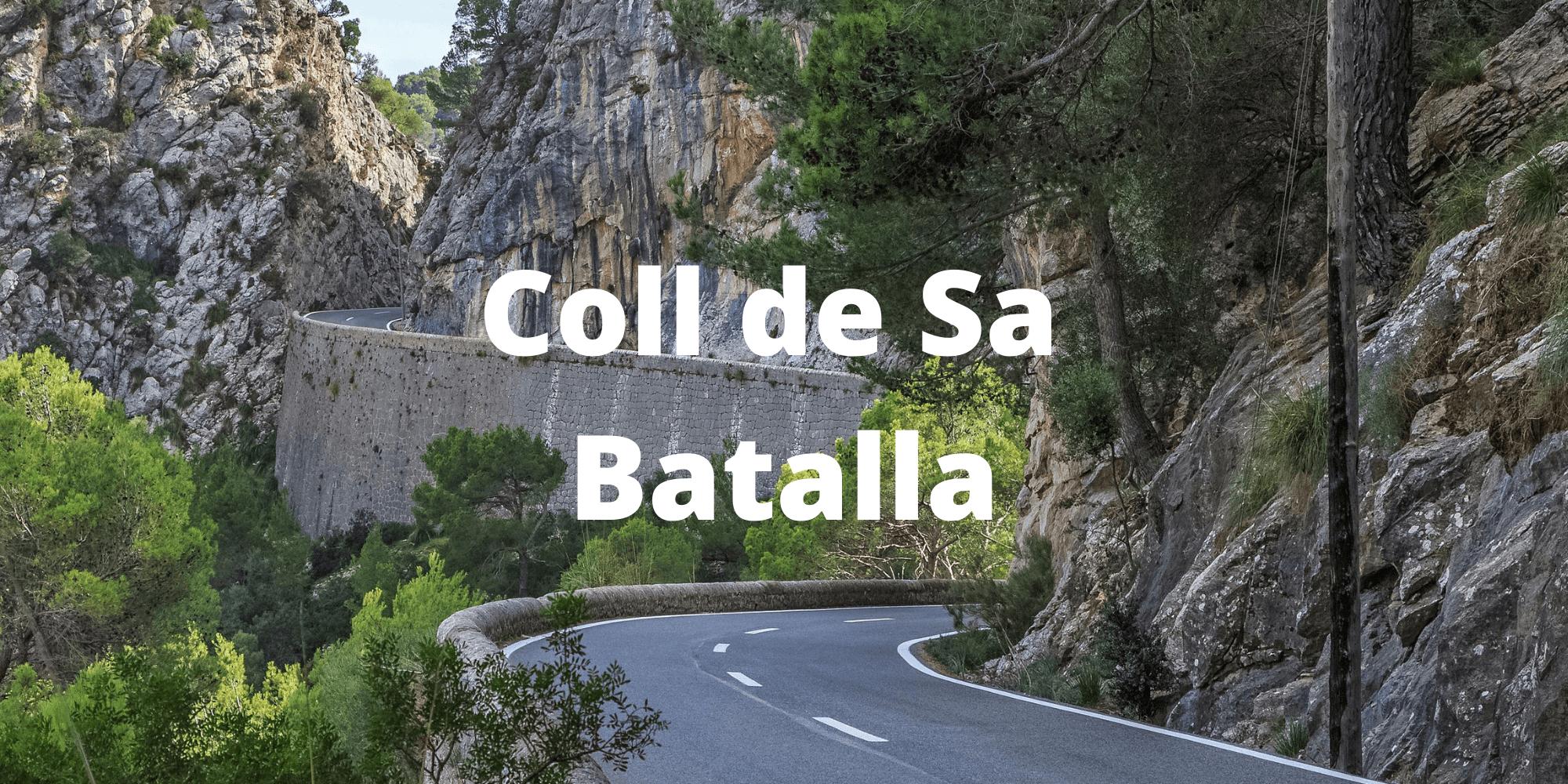 Coll de Sa Batalla climb in Mallorca