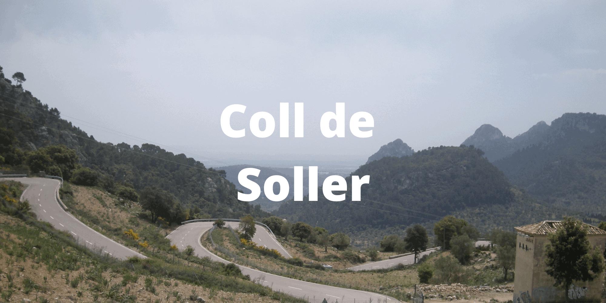 Coll de Soller climb in Mallorca