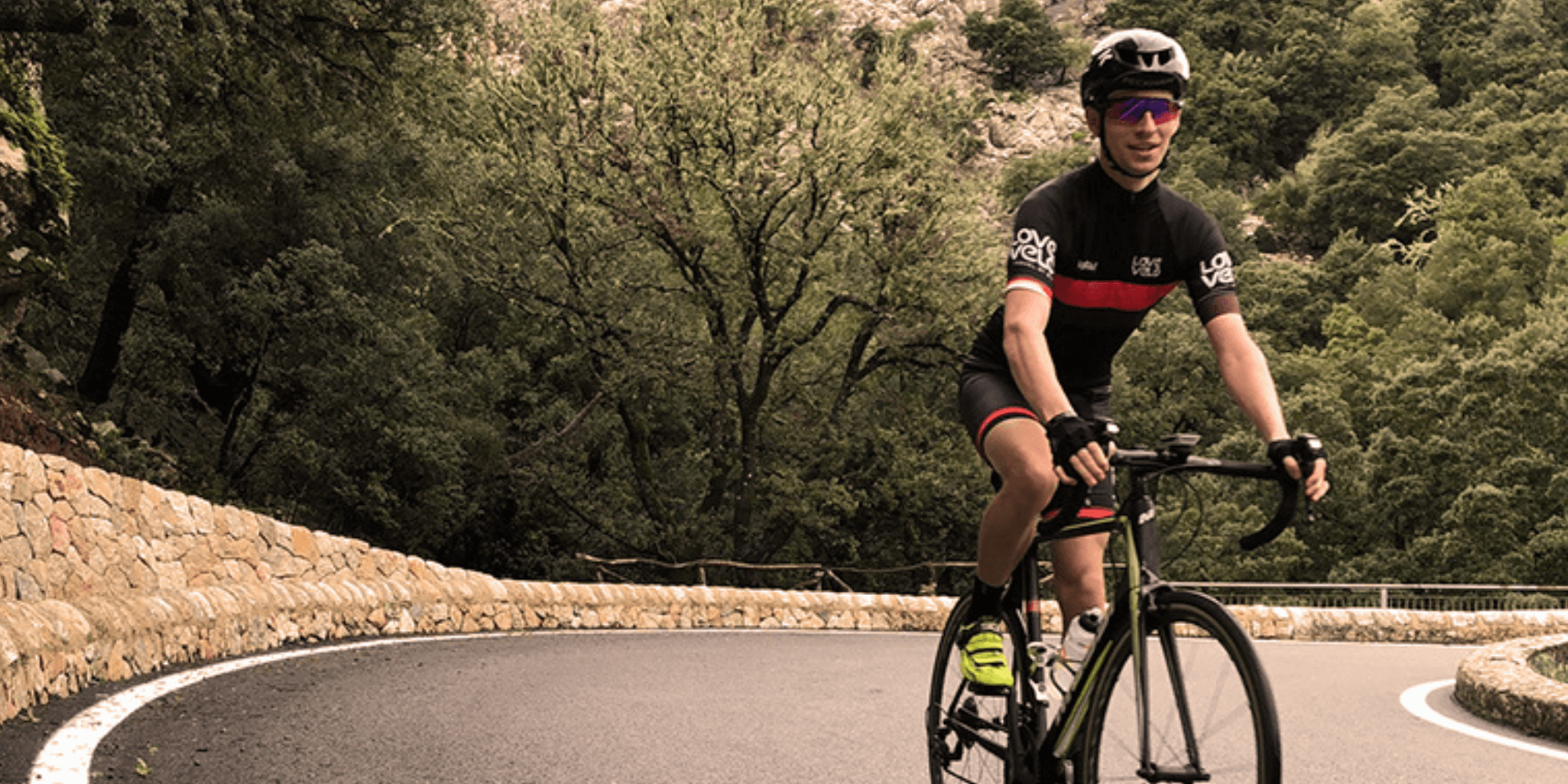 Cycling up the Coll de Soller