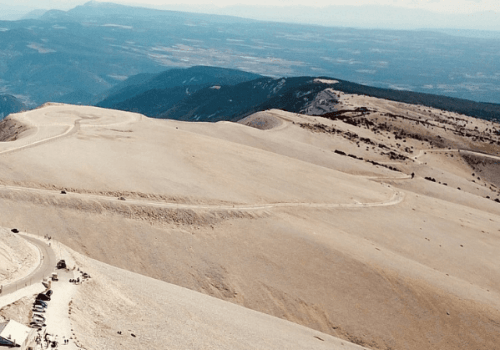 Mont Ventoux weather station viewed from above