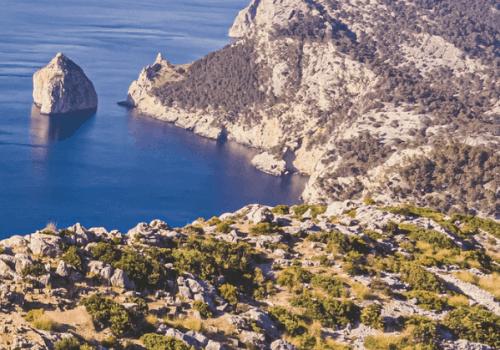 View over the Mallorca coast in autumn