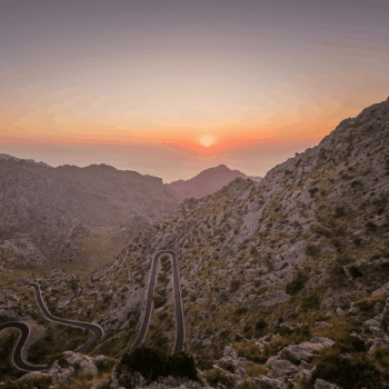 Views of the mountains in Mallorca, Llubí, Spain.